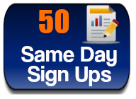 50 sign ups-NEW SENT THE SAME DAY!